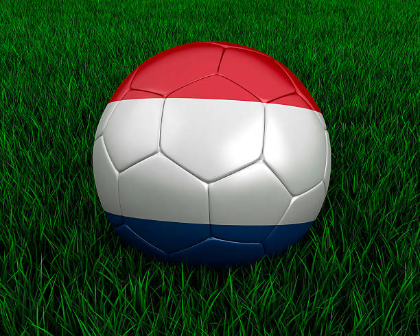 Dutch soccer ball stock photo