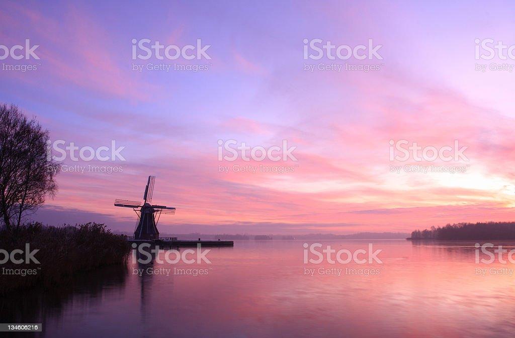 Dutch sunset royalty-free stock photo