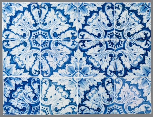 Dutch tile from the 16th to the 18th century old Dutch tile from the 16th to the 18th century cobalt sulfate stock pictures, royalty-free photos & images