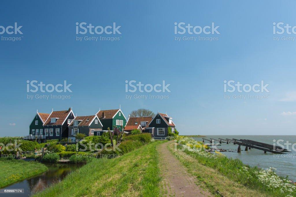 Dutch village and landscape stock photo