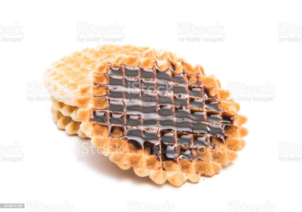 Dutch waffles isolated stock photo