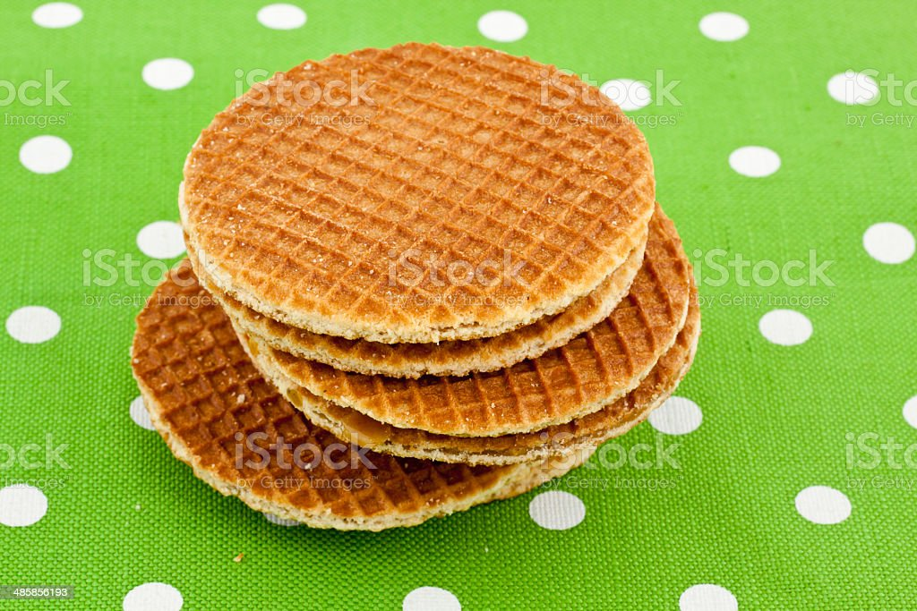 dutch waffles royalty-free stock photo