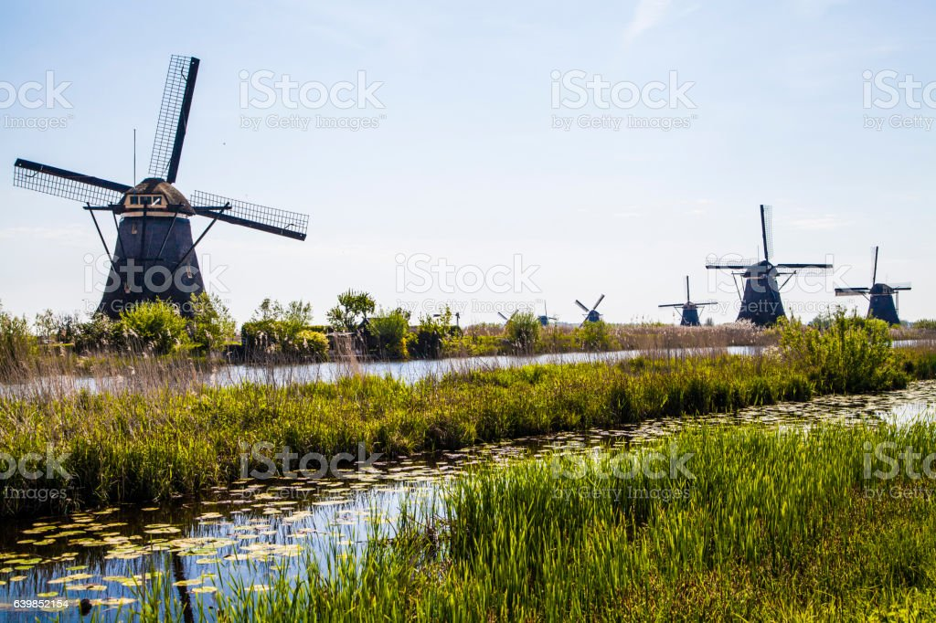 Dutch Watermill stock photo