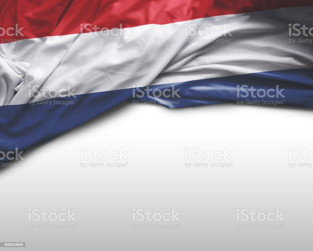 Bandera que agita holandés - foto de stock