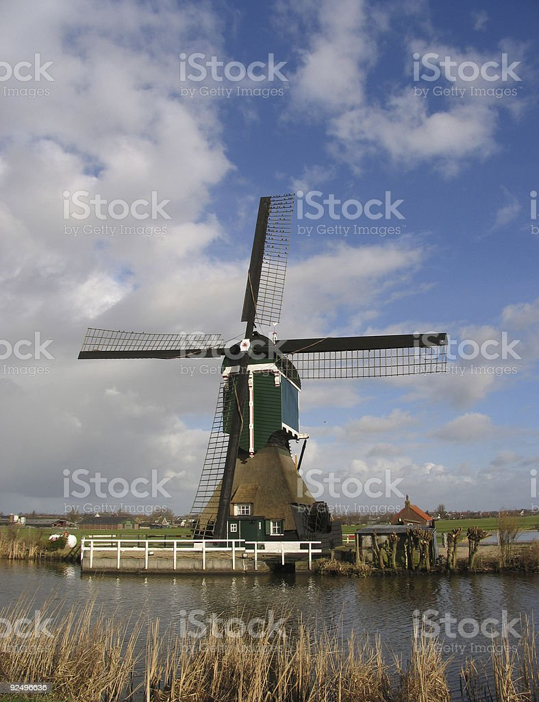 Dutch windmill 1 royalty-free stock photo