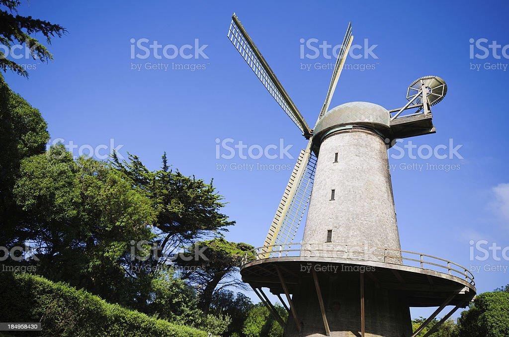 Dutch Windmill at Golden Gate Park in San Francisco, CA stock photo