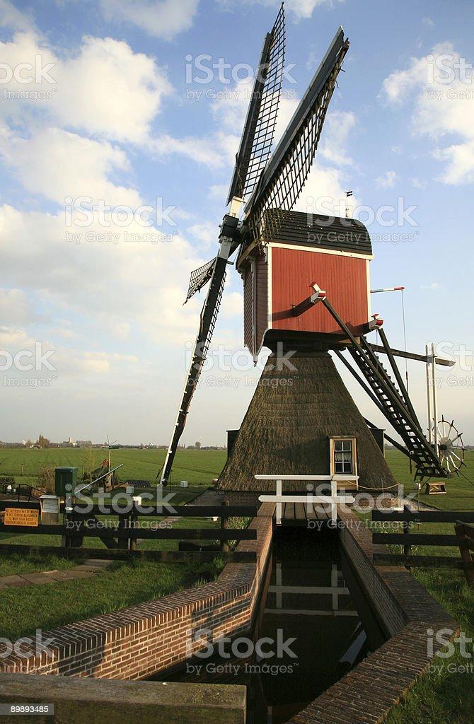 Holländische Windmühle Lizenzfreies stock-foto