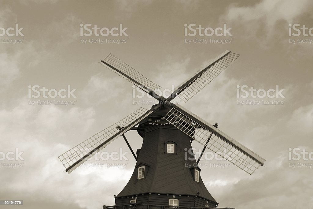 Dutch windmill royalty-free stock photo