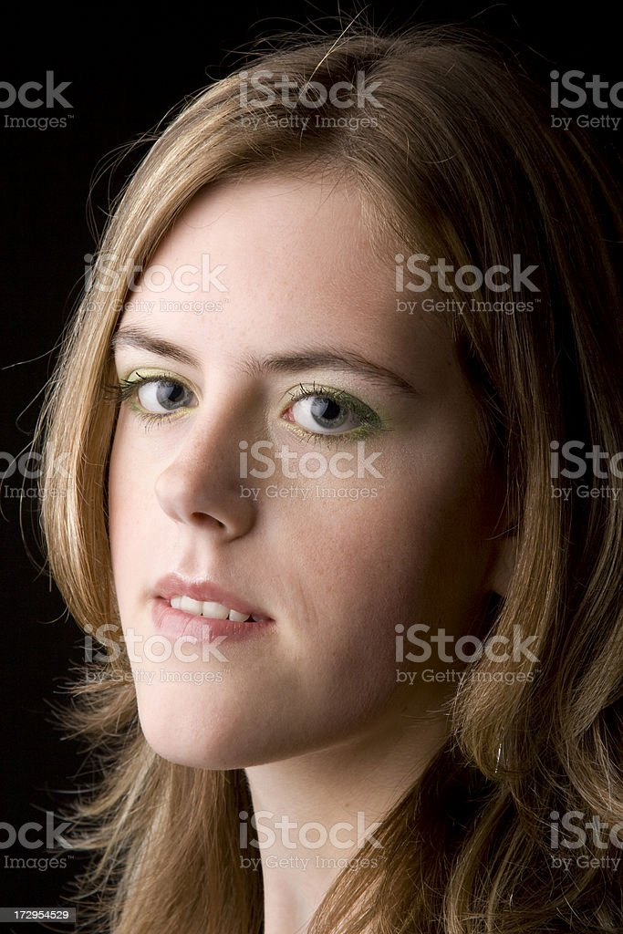 Dutch young woman portrait royalty-free stock photo