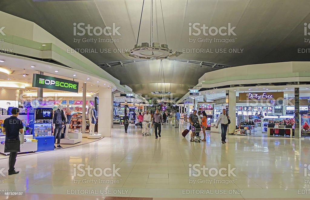 Duty free area at Bangkok Suvarnabhumi airport royalty-free stock photo