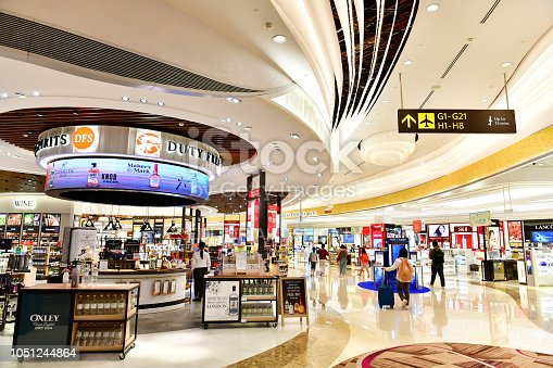 Wines and Spirits store at Singapore Changi Airport Terminal 4 is a newly built passenger terminal building at Singapore