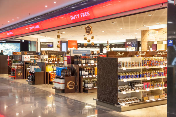 Duty Free shop at the Airport stock photo