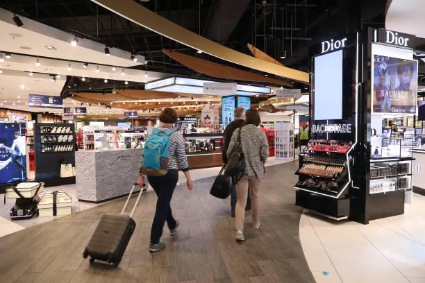 Duty free shopping stock photo