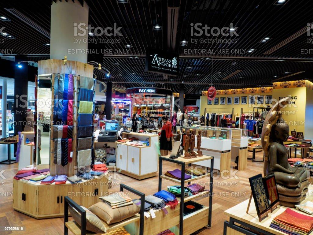 Duty Free shops at Siem Reap International Airport, Cambodia royalty-free stock photo