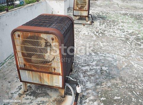 1071156490 istock photo Duty industrial size air compressor machine 1035910604