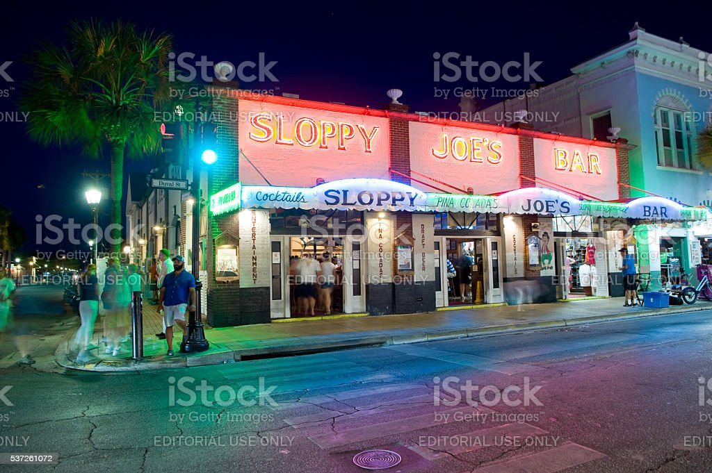 Duval street in Key West stock photo