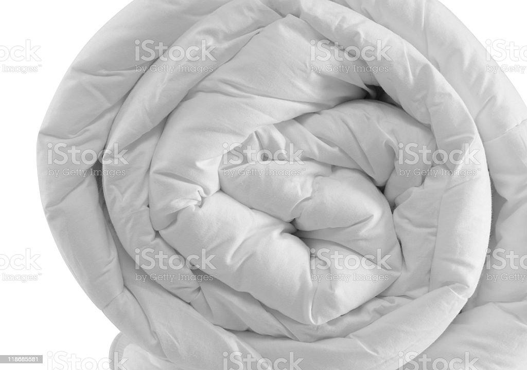 Duvet roll. royalty-free stock photo