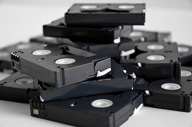 Dv tapes stock photo