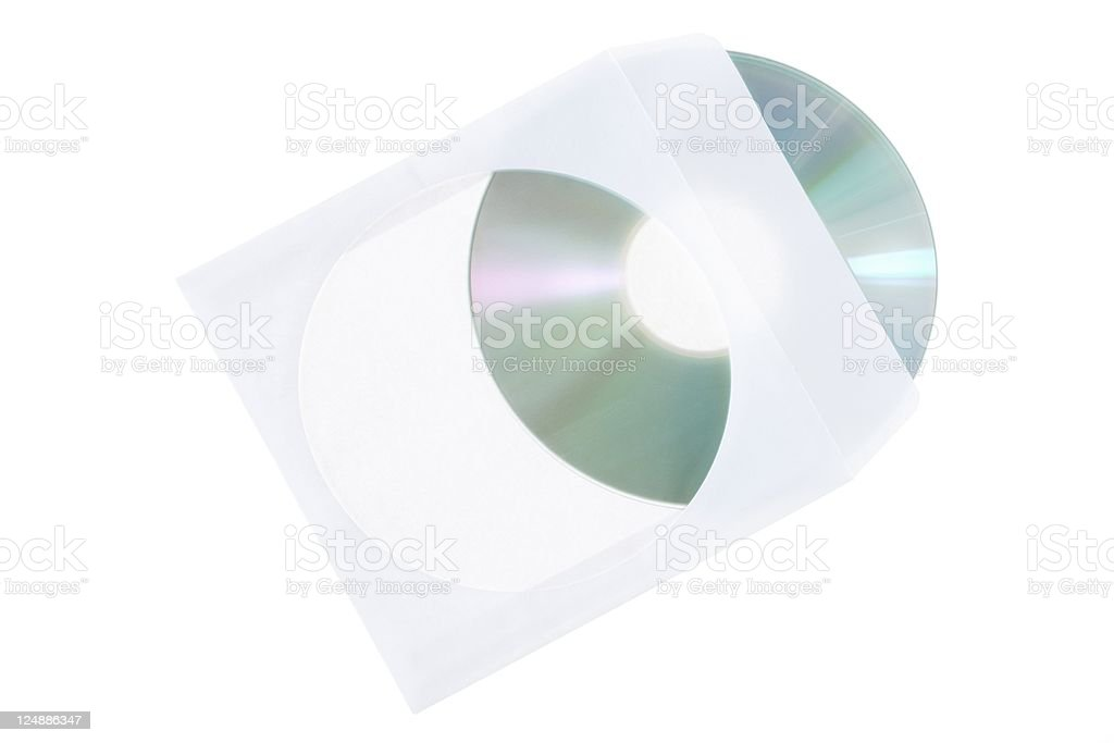 CD dvd blue ray with paper case royalty-free stock photo