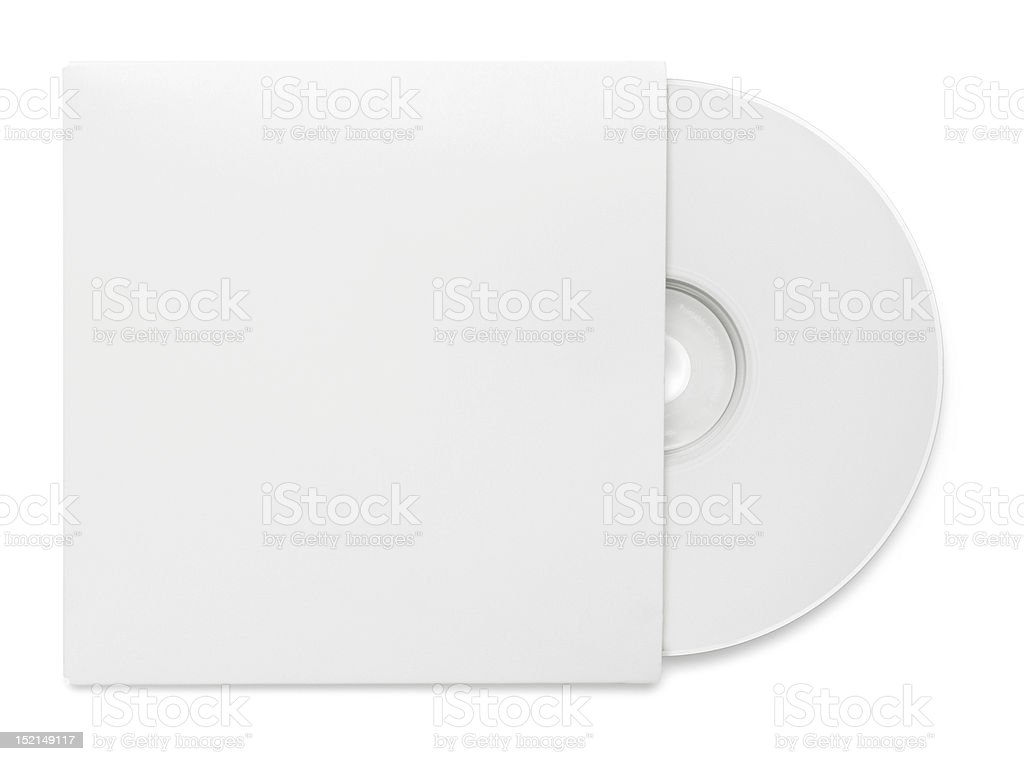 CD dvd blue ray with paper case stock photo