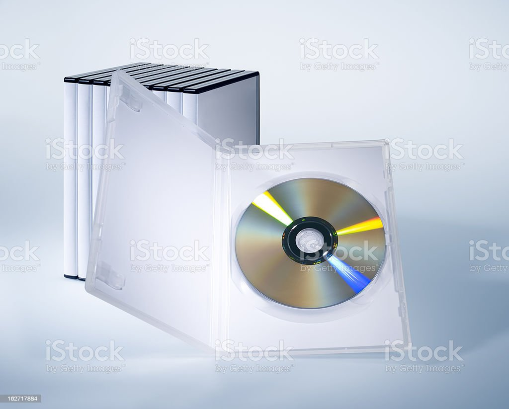 Dvd boxes cover set royalty-free stock photo