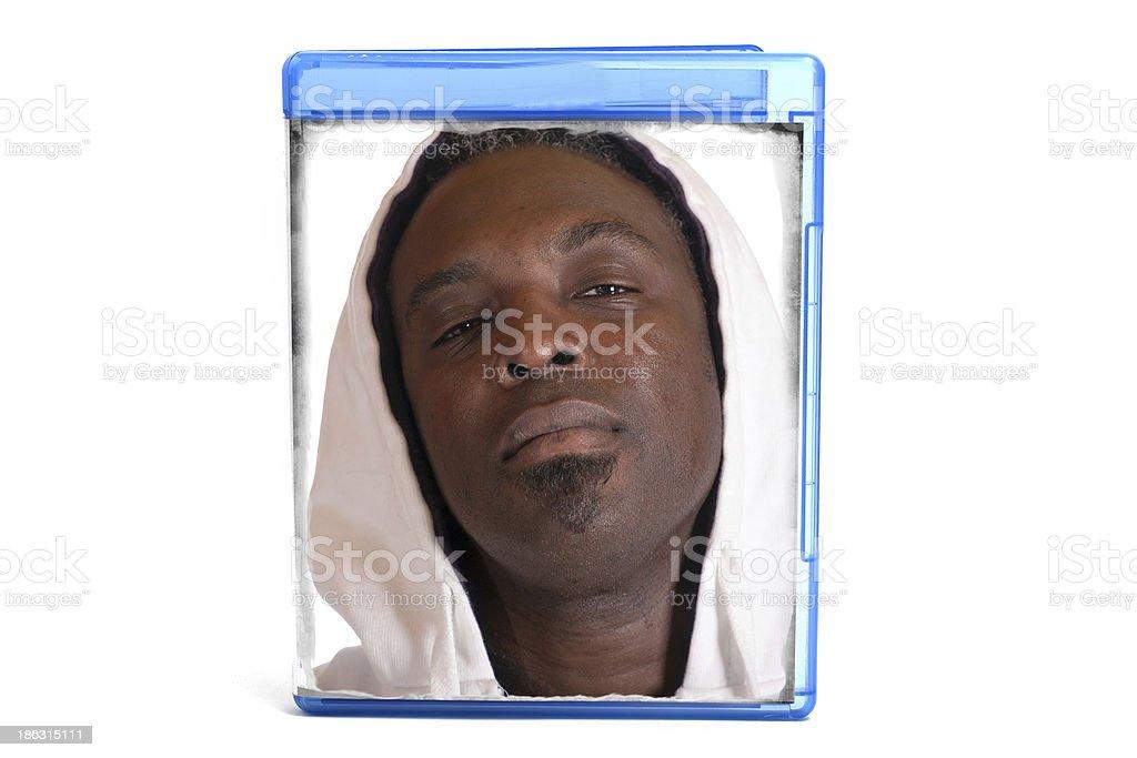 Estuche para dvd con cubierta - foto de stock