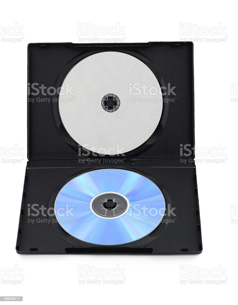 dvd disk box with blank cover stock photo