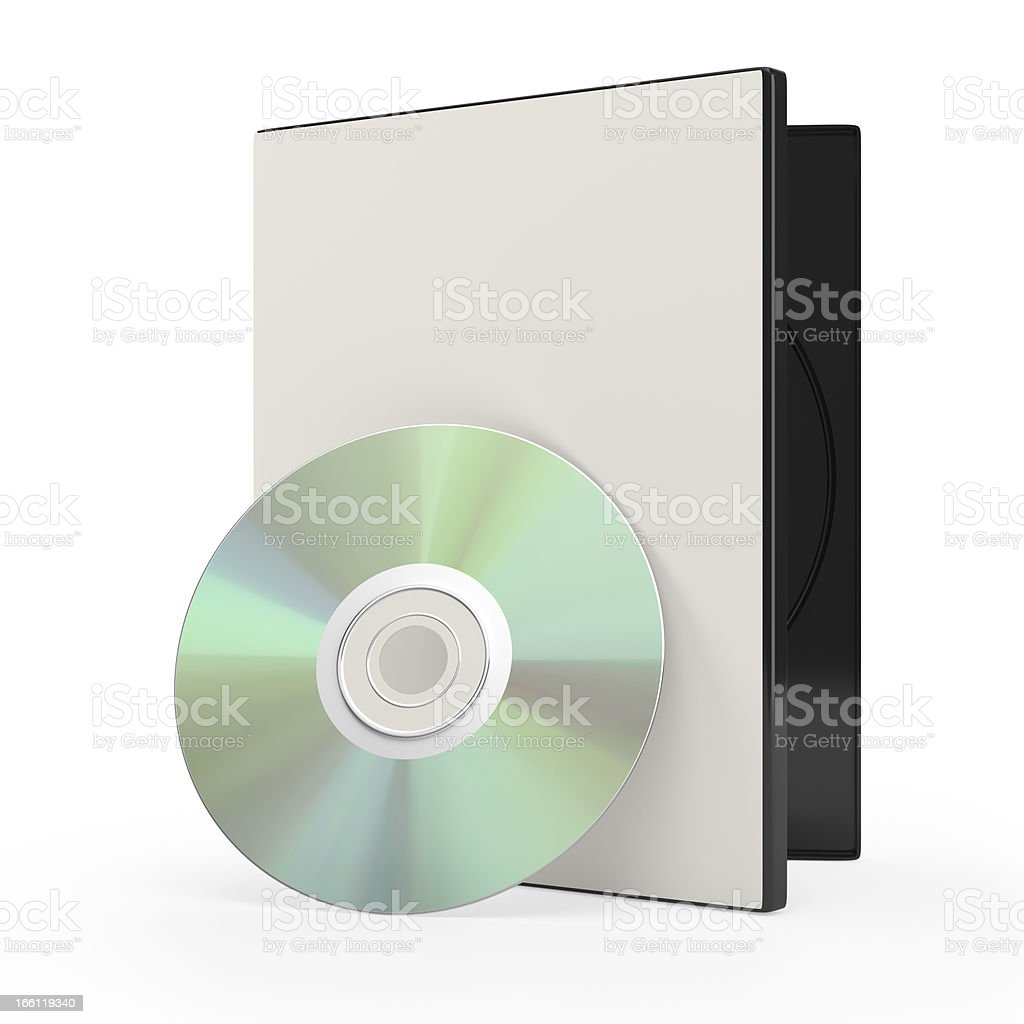 dvd or cd disk and case royalty-free stock photo
