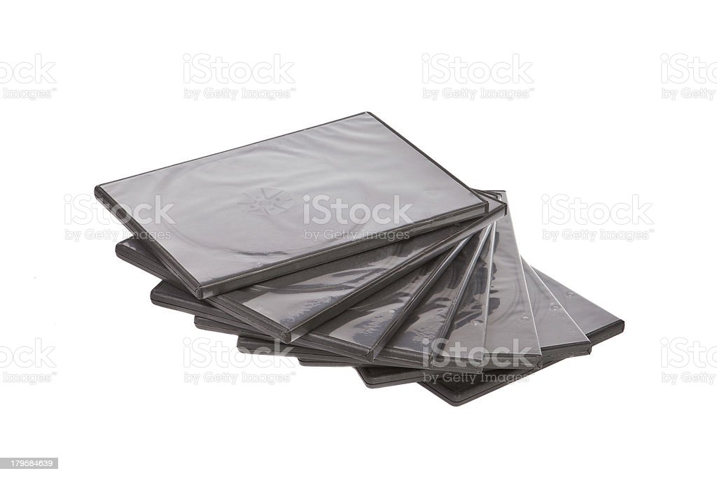 dvd stack of boxes royalty-free stock photo
