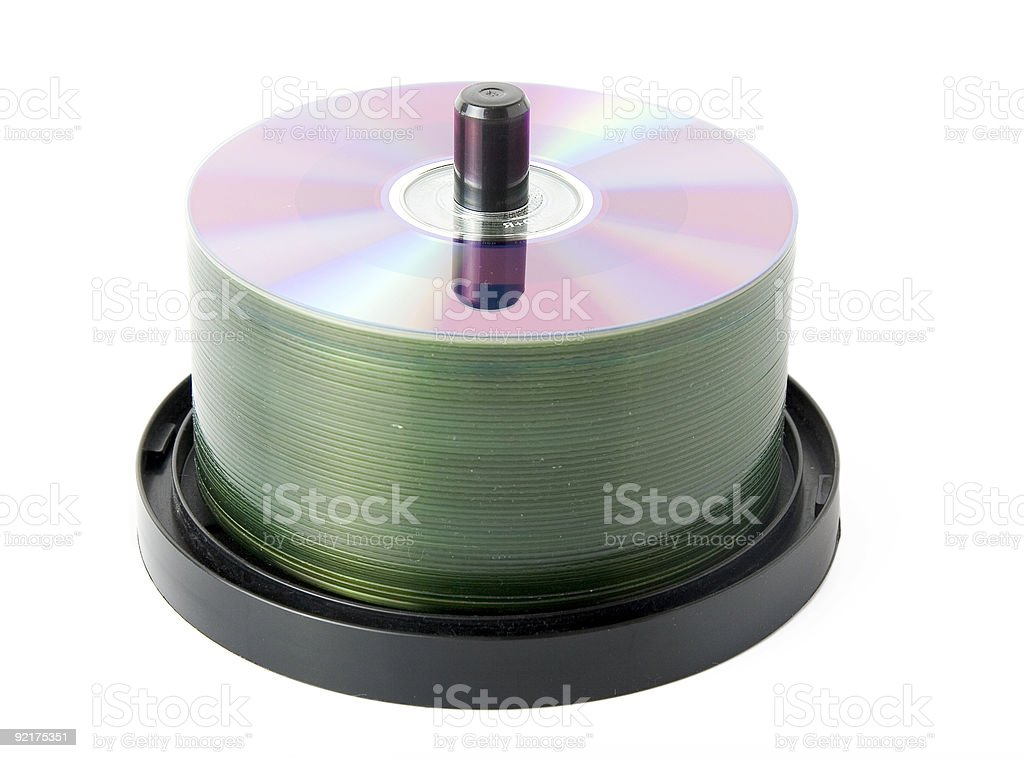 Dvd stack royalty-free stock photo