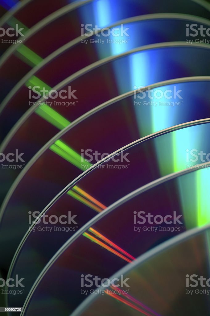DVDs in a row stock photo