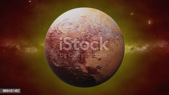 istock dwarf planet Pluto, former planet of the Sun 989497482
