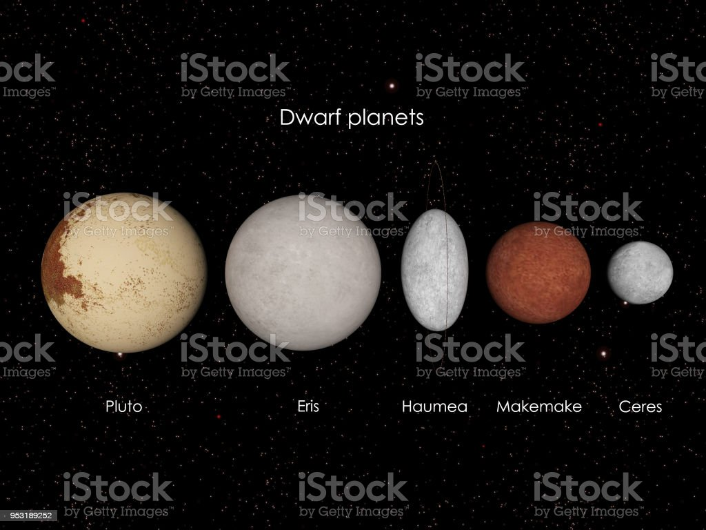 Dwarf planets royalty-free stock photo