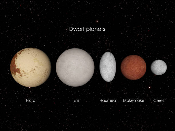 Dwarf planets stock photo