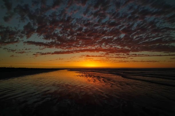 Dwarskersbos Sunset, South Africa stock photo