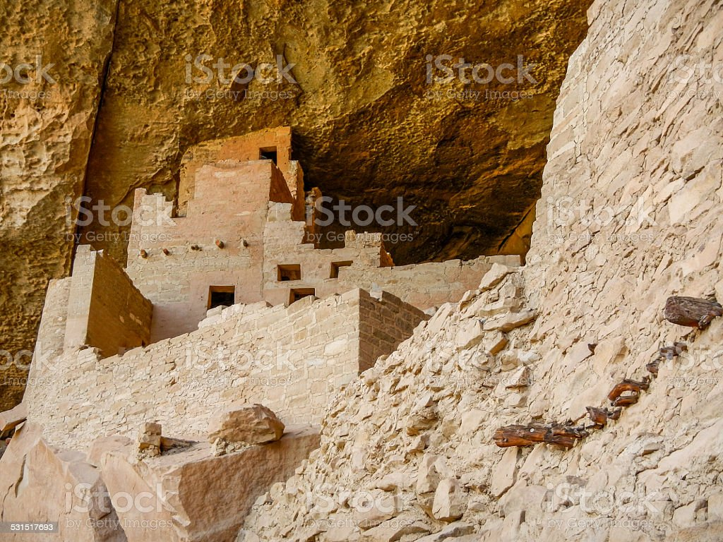 Dwellings Under the Cliff stock photo