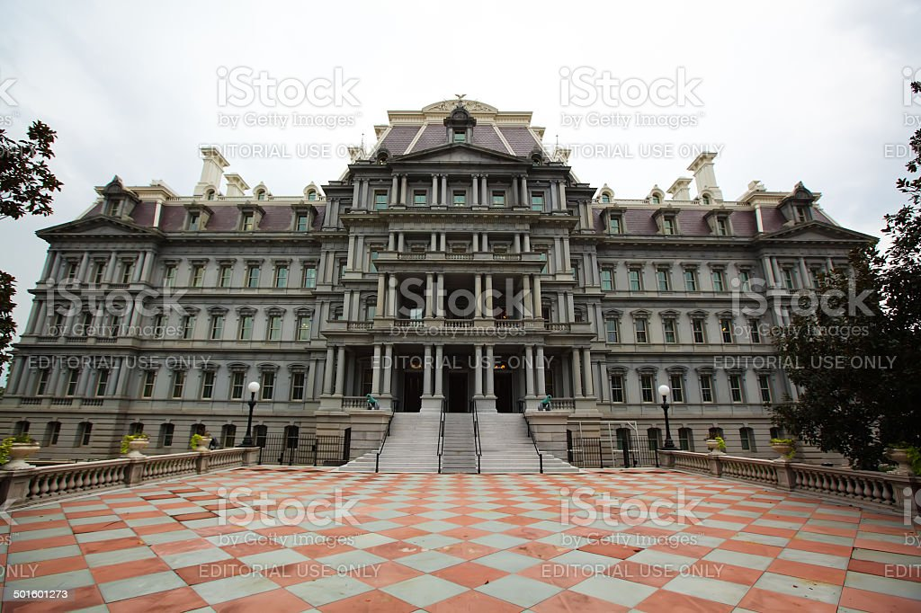 Dwight Eisenhower Executive Office Building in Washington stock photo
