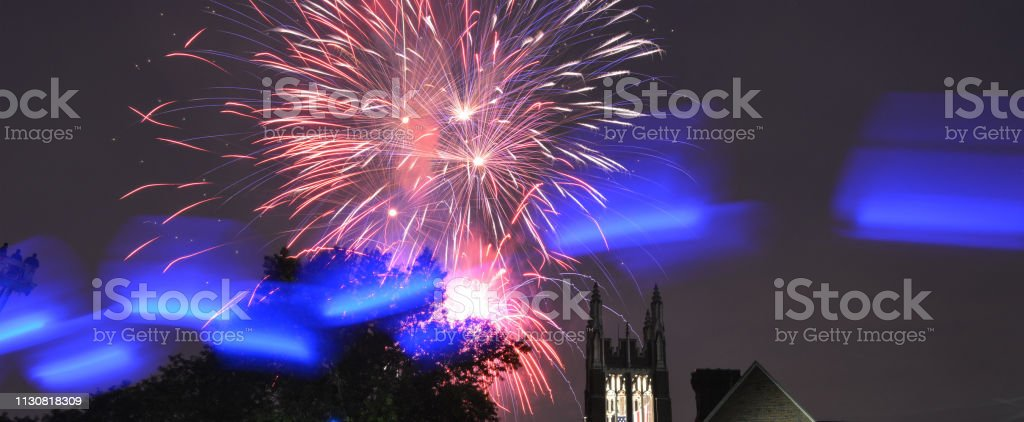 Dwight Morrow High 4th of July Celebration stock photo