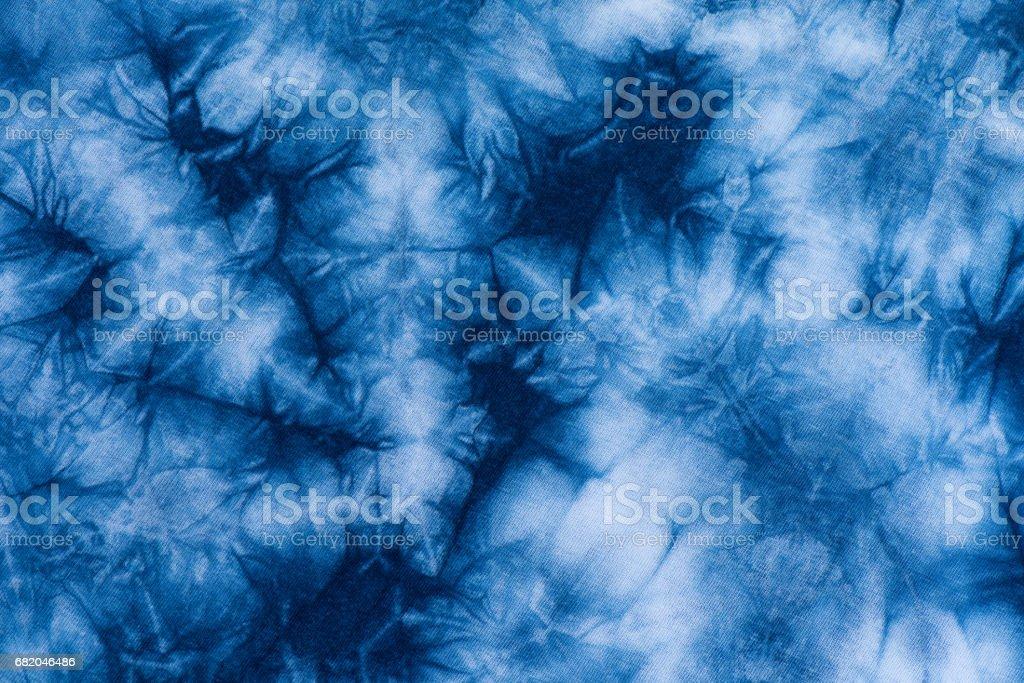 Dye indigo fabric backgrond and texture stock photo