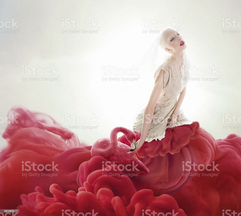 dye skirt stock photo