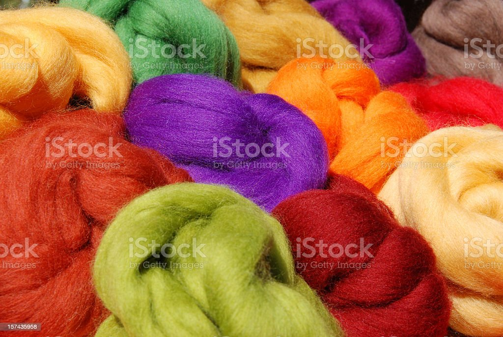 dyed new wool royalty-free stock photo