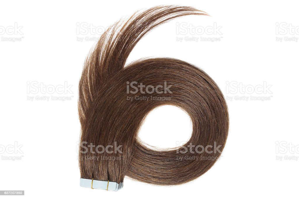 Dyed Straight Lighter Brown Adhesive Tape In Human Hair Extensions