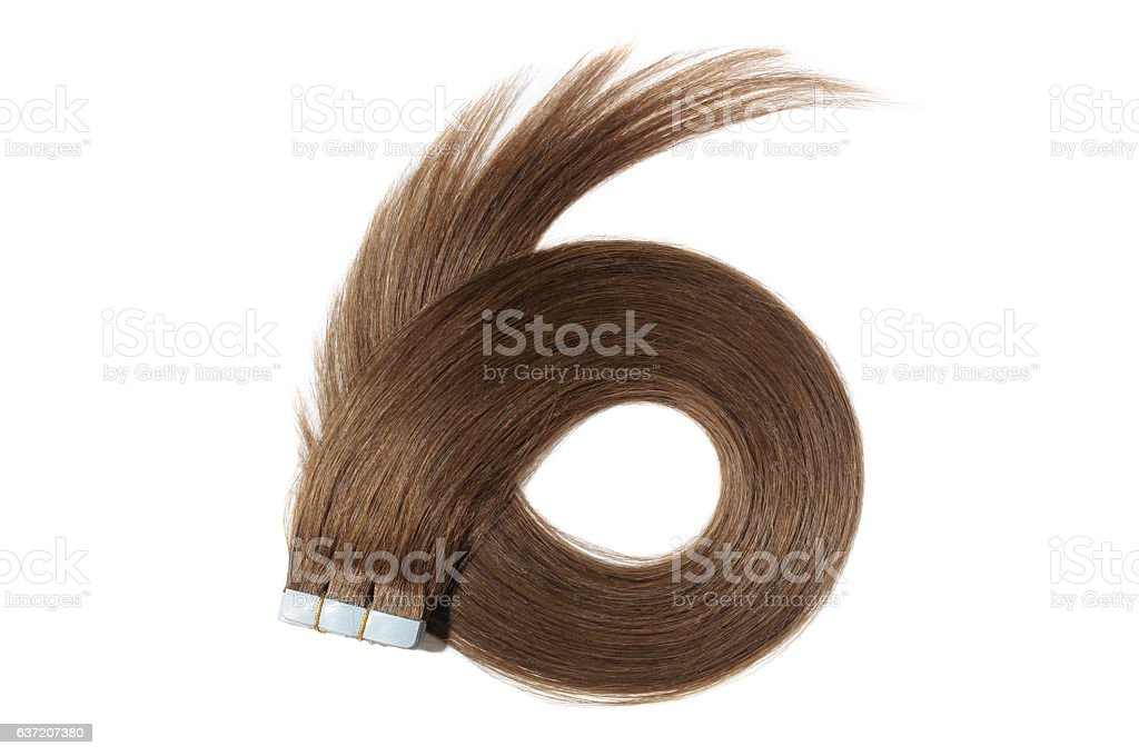 Dyed Straight Medium Brown Adhesive Tape In Human Hair Extensions