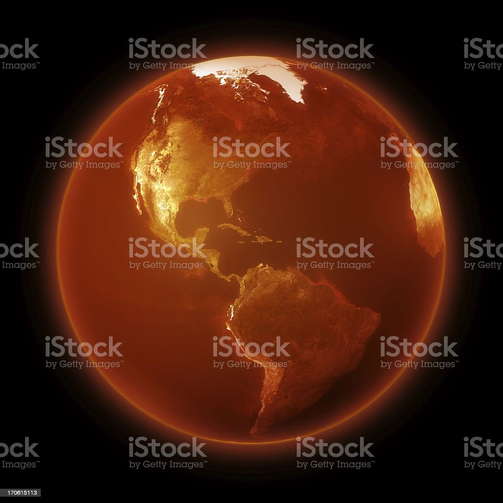 Dying Earth - Global Warming stock photo
