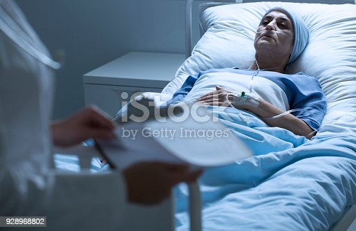 928968772 istock photo Dying patient with tumor 928968802