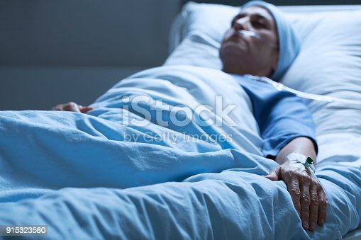 909569706istockphoto Dying woman suffering from pain 915323580