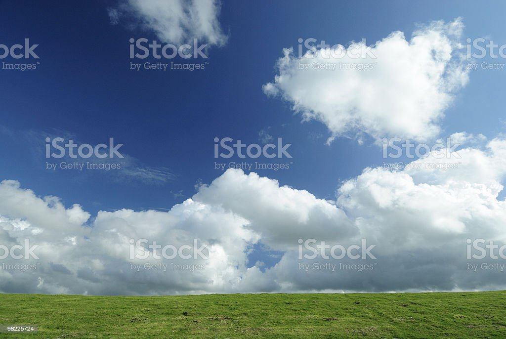 Dyke and clouds royalty-free stock photo