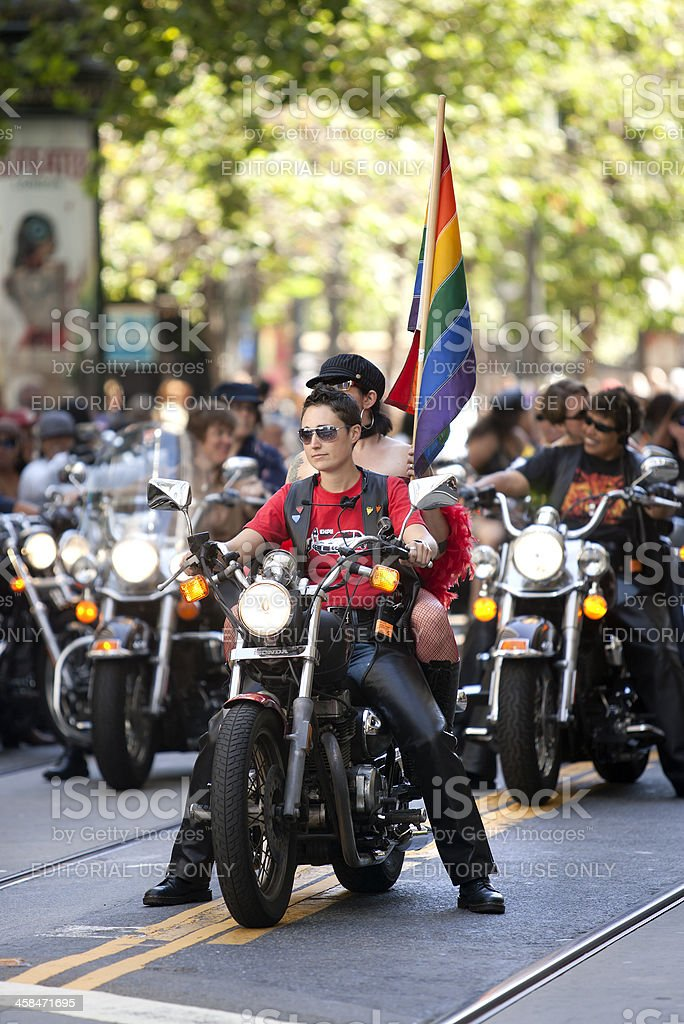 Dykes on Bikes royalty-free stock photo