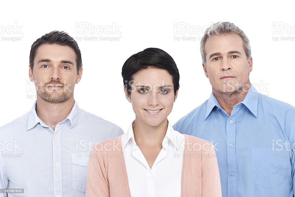 Dynamic business trio royalty-free stock photo