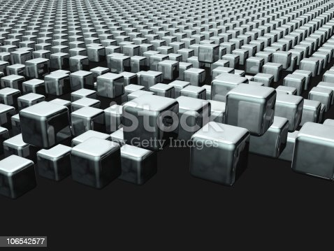 istock Dynamic cube floating background 106542577